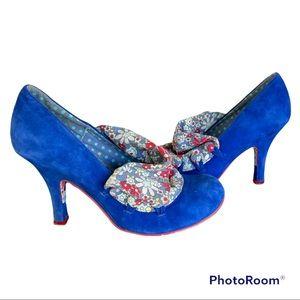 IRREGULAR CHOICE royal blue Flick Flack shoes